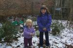 Grandkids in snow
